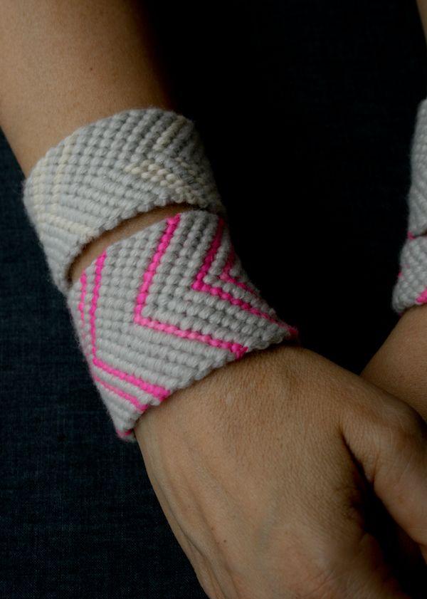 super wide friendship bracelets from @purl bee