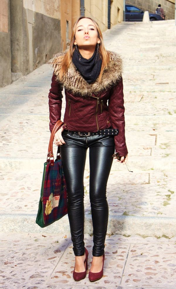 Women Leather Pants-Trend For This Season