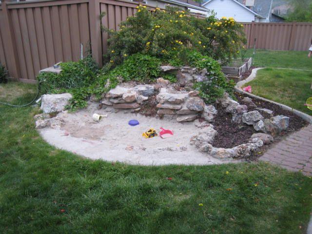 Backyard Sandpit : sandbox garden  Bing Images  backyard beach  Pinterest