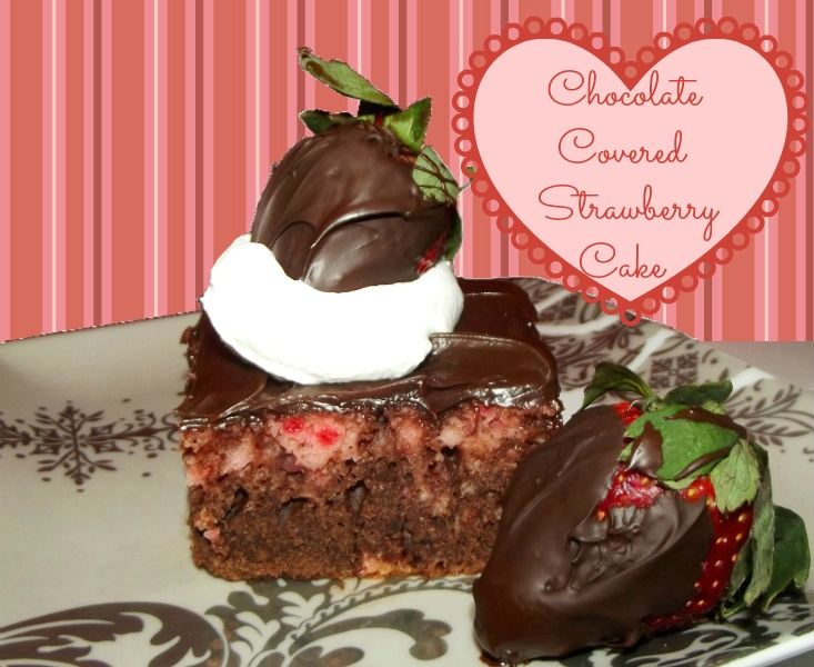 Chocolate Covered Strawberry Cake Life With The Crust Cut Off