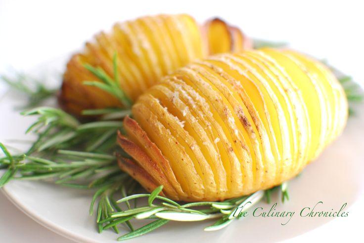 Garlic Hasselback Potatoes