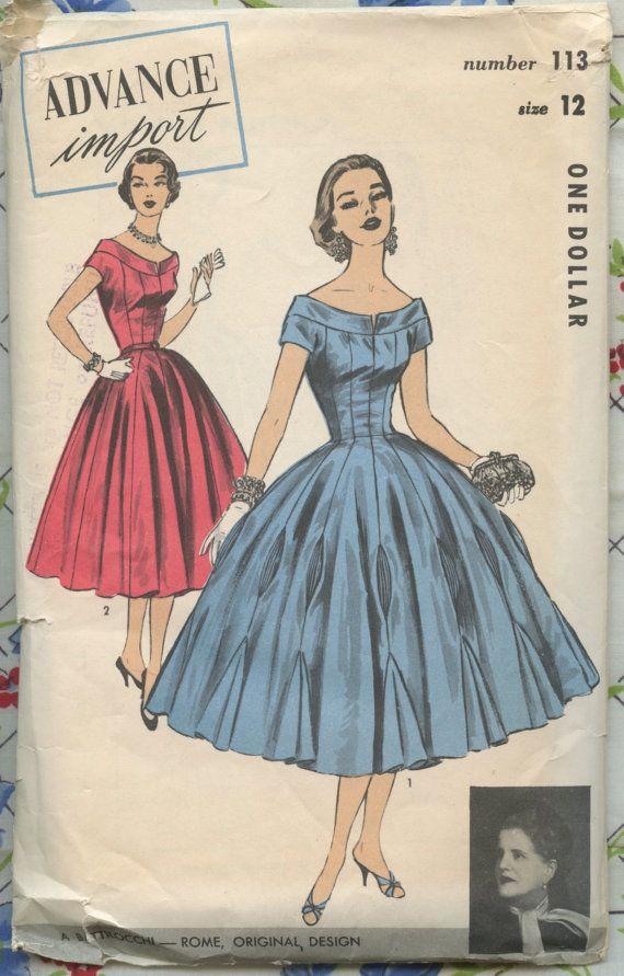 1950s Vintage Pattern Advance Import 113 by by GreyDogVintage, $85.00