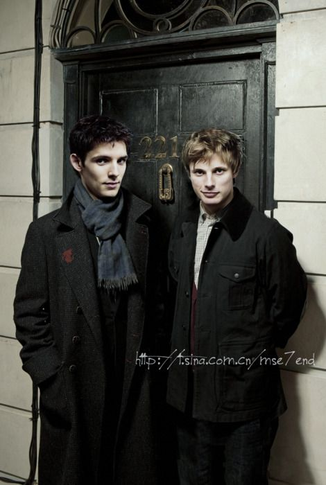 Merlin and Arthur on Baker Street. Dude!