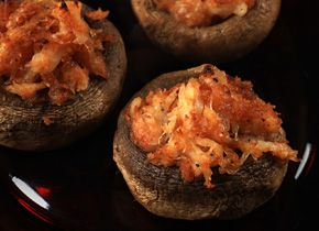 Crab and Fontina Stuffed Mushrooms | Party appetizers | Pinterest