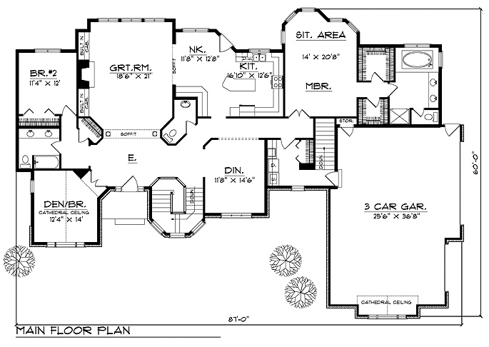 plan 64195 2 600 sq ft dream home floorplans