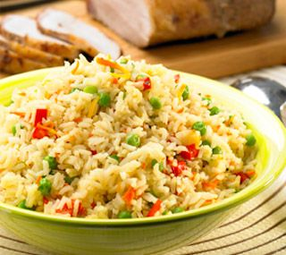 Mixed Vegetable Rice Pilaf - I used Japanese rice and it give it a ...