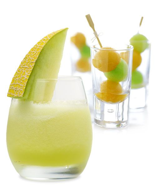 ... melon balls, but be careful snacking; the melon soaks up the punch