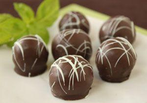 Mint Fudge Truffles ('It's partially a fudge recipe, partially a ...