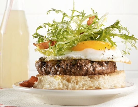 ... bacon, fried egg, Widmer's aged cheddar, Short Cake's English Muffin