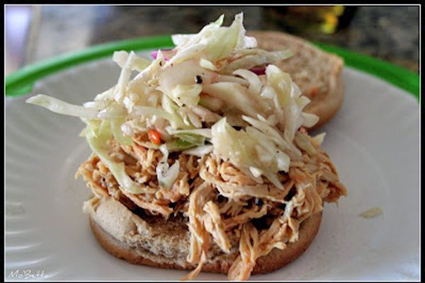 ... Chicken BBQ and Slaw Sandwiches - 75 Days of Summer Slow Cooker