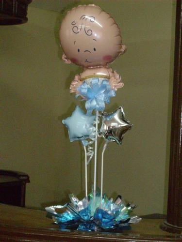 Baby shower balloon centerpiece pinterest