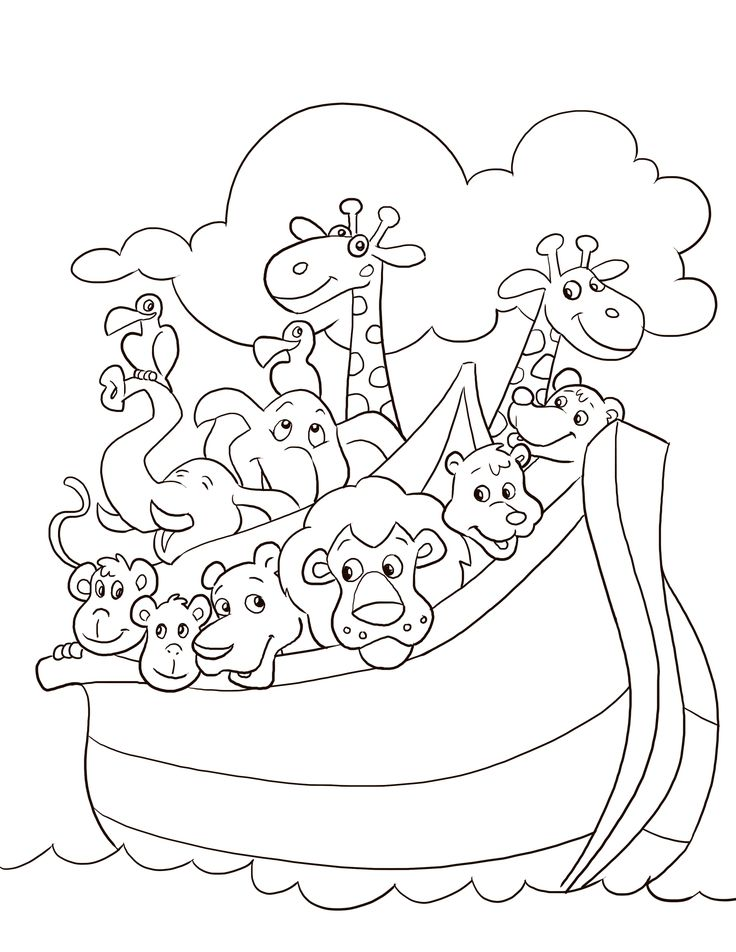 Noahs ark story coloring pages coloring pages for Noah ark coloring page