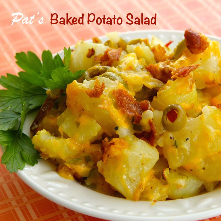 Pat's Baked Potato Salad is not your everyday potato salad. Some of ...