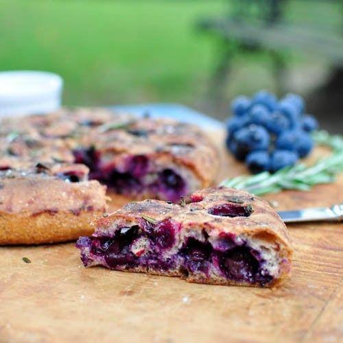 Concord Grape - Rosemary Focaccia HealthyAperture.com