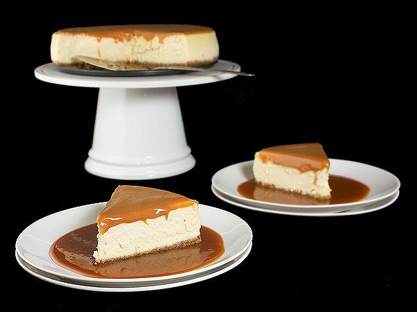 Amaretto Cheesecake with Almond Crust & Amaretto-Caramel Sauce
