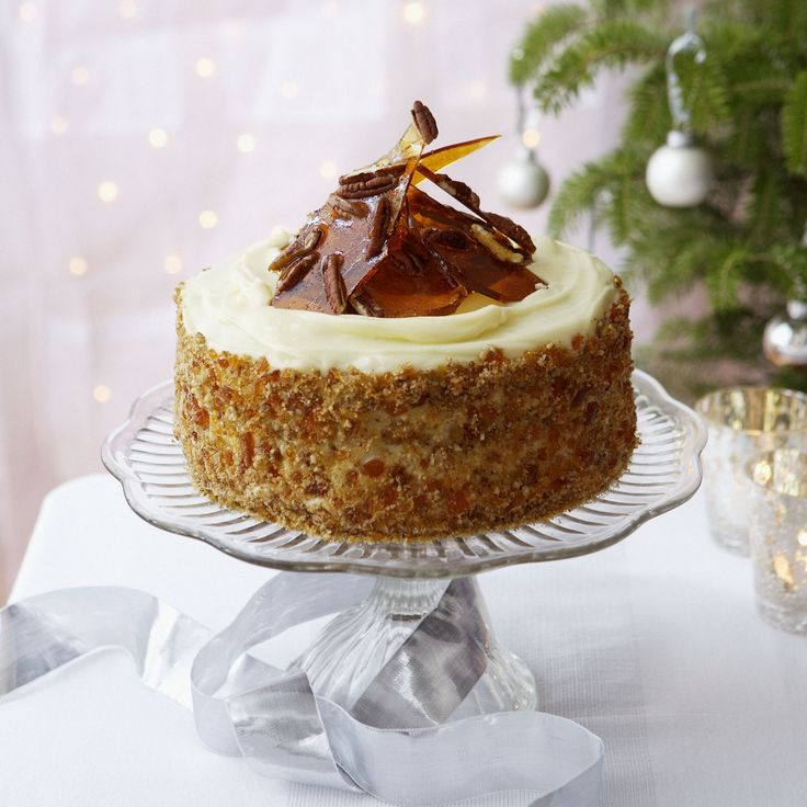 ... Sticky Ginger and Treacle Cake with Rum and Pecan Praline recipe now