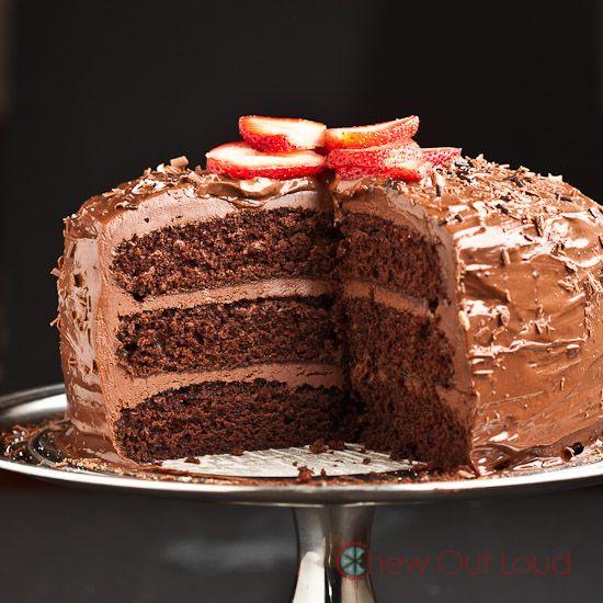 One Bowl Chocolate Cake (Vegan - cake part only) | Recipe