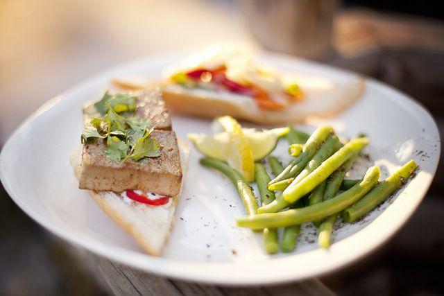 Vegan Lemongrass Tofu Bánh Mì with Homemade Pickled Veggies