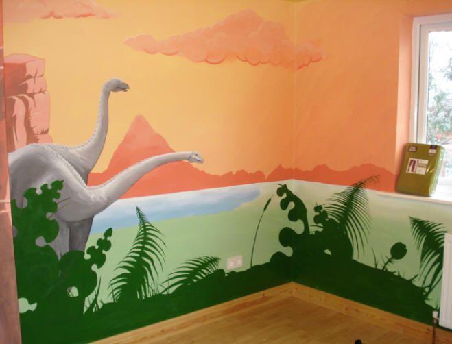 Dinosaur Room kids dinosaur murals