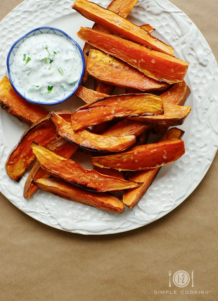 BAKED SWEET POTATO FRIES — 1-2 Simple Cooking
