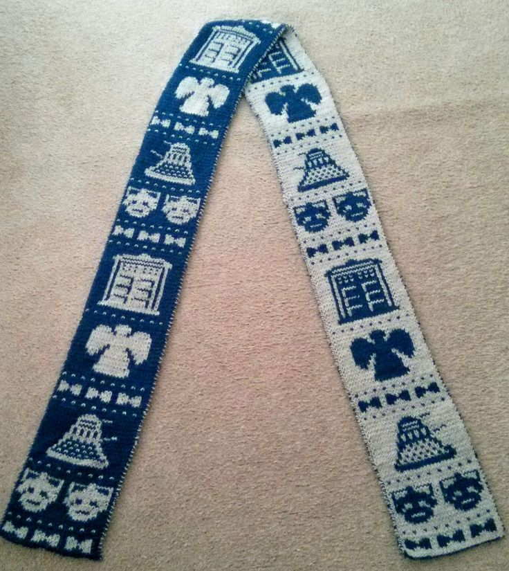 Dr. Who - Double Knit Scarf - free pattern Projects for Needles, Hooks, Sew...