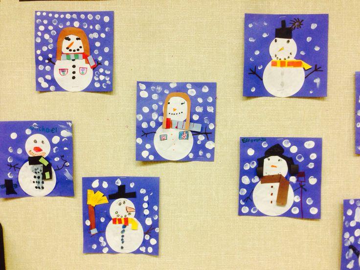 Snowman Art | Arts and Crafts for School | Pinterest