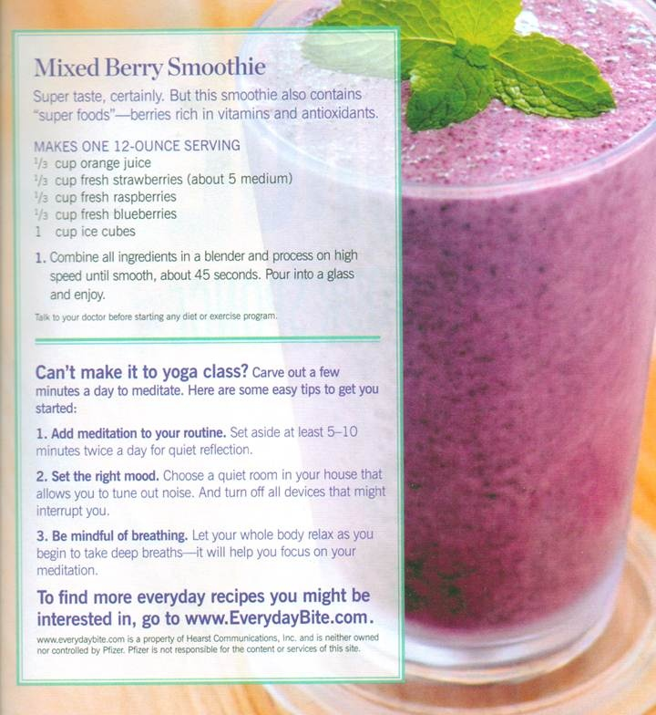 Mixed Berry Smoothie~ Orange juice, strawberries, raspberries and ...