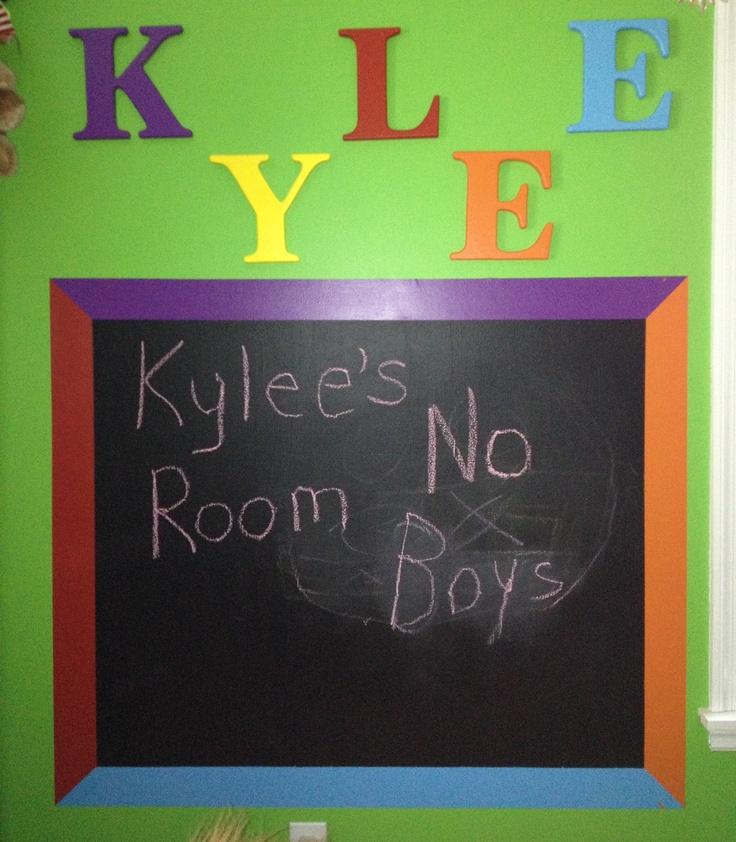 Chalkboard Wall For Kids Room For The Kids Pinterest