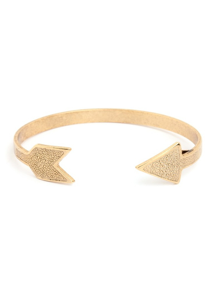 Gold Arrow Cuff-Reminds me of the Hunger Games.