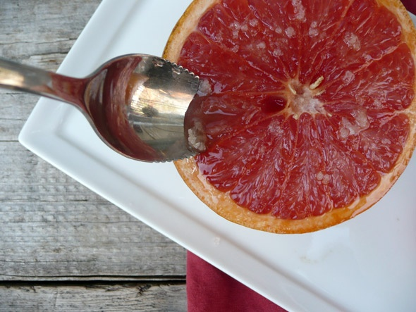 Broiled Grapefruit With Ginger Sugar- I made a version of this for ...