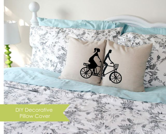 DIY decorative pillows - heat transfer