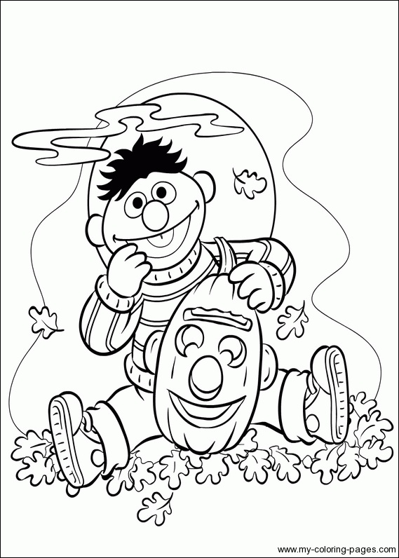 bert and ernie coloring pages-#27