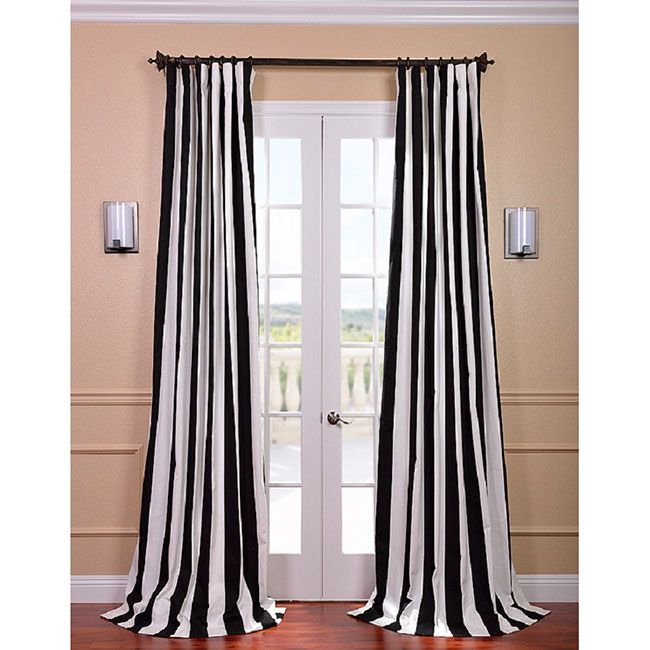 Black And White Trellis Curtains Black and White Vertical Stripe