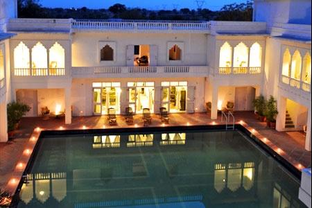 lovely courtyard swimming pool! @Savista in Jaipur