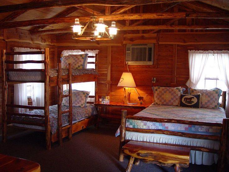 rustic log cabin interior cabin pinterest