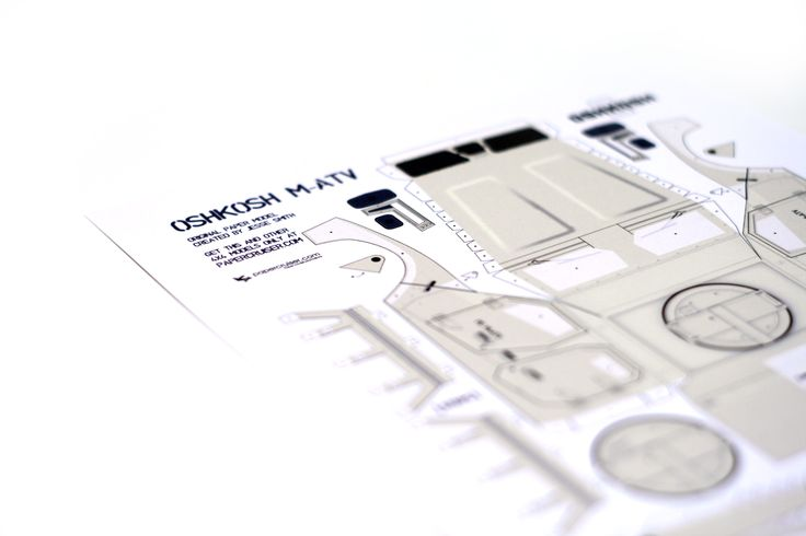 Oshkosh M-ATV paper model | http://papercruiser.com/products-page/other-4x4-models/oshkosh-m-atv-military-truck/