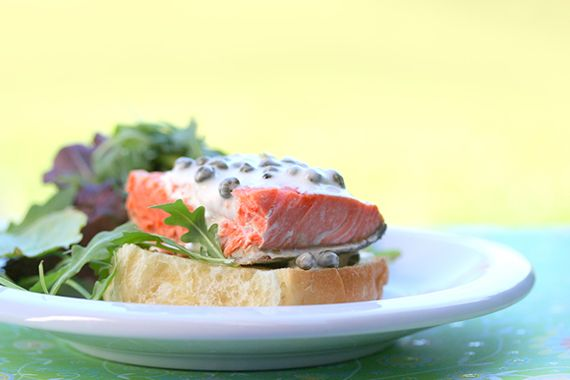 Cold Salmon Sandwich with Lemon-Caper Mayo FINALLY - a GOOD recipe for ...