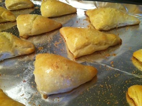 Cheese crescent triangles | In my mouth | Pinterest