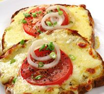 Grown-up grilled cheese sandwiches. They are a quick and healthy ...