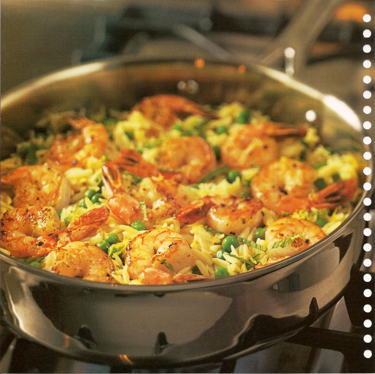 PC shrimp orzo skillet - one of my favorite fast meals!