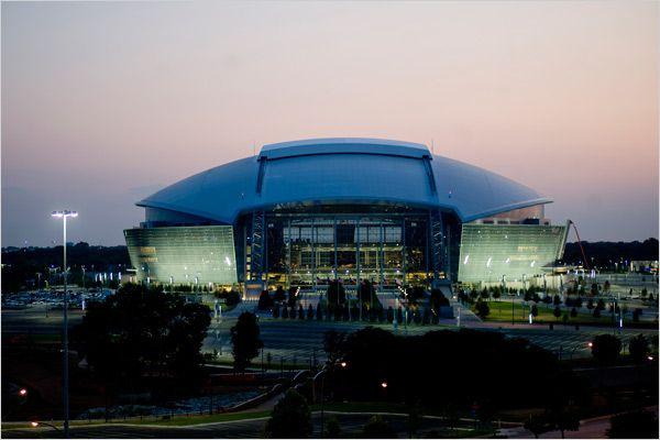 another night shot of Dallas Cowboys Stadium