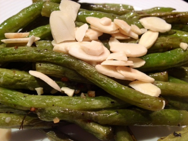 ... Free/Dairy Free Lemon & Garlic Roasted Green Beans With Almonds