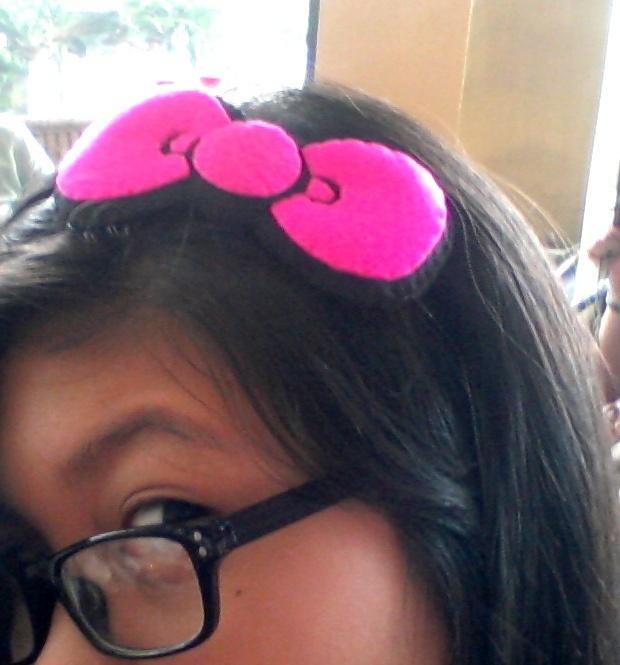 pink hello kitty bow headband | bows | Pinterest