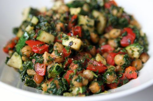 Lemony chickpea stir fry. Looks like a healthy and filling dinner for ...