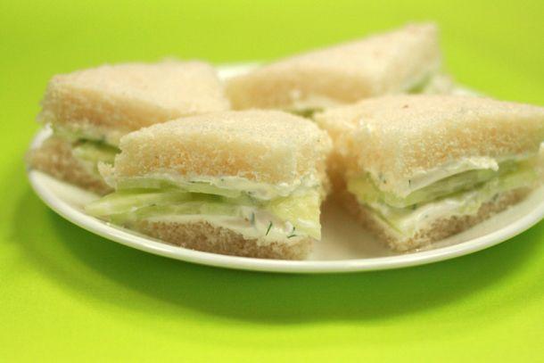 ... cucumber sandwich--my new favorite sandwich! Seriously, Jane, I owe