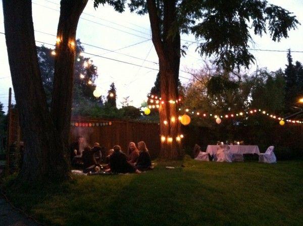 Backyard Party Lights : summer backyard party  graduation party ideas  Pinterest