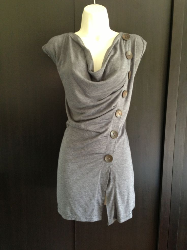 Asymmetrical button top black amp grey clothing the bulk of my