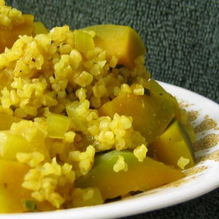 Bulgur and Pumpkin Pilaf | Veggie & Meatless Dishes | Pinterest