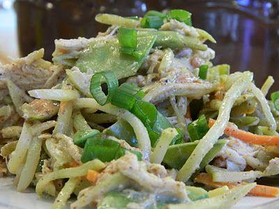 Chicken Salad with Broccoli Slaw & Almond Ginger Dressing | Primal ...