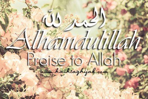 Islamic Daily: Alhamdulillah. | Hashtag Hijab © www.hashtaghijab.com